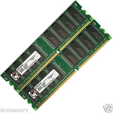 2 GB, 2x1 GB PC2700 U DDR-333 MHz Memoria Ram Pc Dimm 184 PIN bassa densità CL2.5