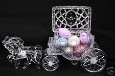 Clear Cinderella Coach Wedding Carriage Favor Party Cake Topper Decoration