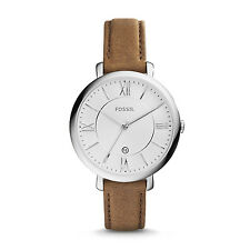 FOSSIL ES3708 Jacqueline Slim White Dial Brown Leather 36mm Women's Watch