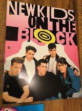 New Kids On The Block Pink Folder NKOTB - New Old Stock - 1990 Vintage