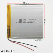 3.7V 4000mAh LiPo polymer Battery Rechargeable For Power Bank Tablet PC 388992