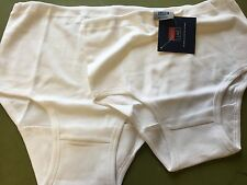 "Ladies/Girls School Knickers. David Luke 2 Pair Pack  White Size XL 36"" Waist"