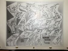 Walt Disney ROBIN HOOD Set Of PRODUCTION MODEL SHEETS ORIGINAL 1971 Milt Kahl