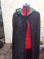Black  hooded cloak, lined hood more colours available Crushed Velvet