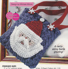 Crochet Pattern ~ LITTLE GIRLS SANTA PURSE Tote Bag Christmas ~ Instructions