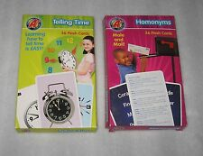 LOT OF 2 A+ FLASH CARDS - HOMONYMS - TELLING TIME - 36 CARDS EACH