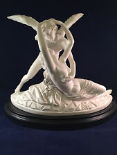 The Museum Co. Large Ancient Greek Roman Cupid & psyche Italian Marble sculpture