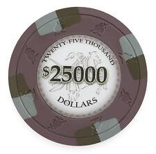 "25 ct Olive Purple $25000 Twenty-Five Thousand ""Poker Knights"" 13.5g Poker Chips"