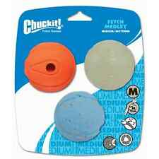CHUCKIT Fetch HEDLEY SFERE (confezione da 3) MEDIUM SIZE for Launcher Chuck It