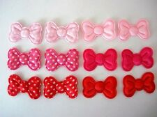 "60 Satin Polka Dots 1.25"" Big Bow Applique/Trim/Craft/Sewing/pink/red/girl H267"