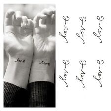 Temporary Love Letters Body Art Paper Sticker Tattoos