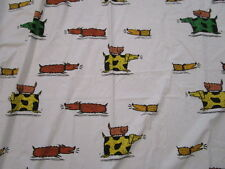 """IKEA  Tab Window Curtain 58"""" x 89""""  - One Panel - Dogs and Cats #19426"""