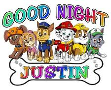 "PAW PATROL Personalized PILLOWCASE ""GOOD NIGHT"" Any NAME Super Soft Great Gift"
