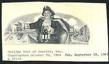 """HOLIDAY INNS OF AMERICA, INC"" UNIQUE VIGNETTE DIE PROOF OCT 20,1964 BT3637"