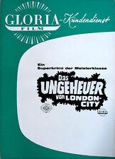 Das Ungeheuer von London City Werberatschlag Gloria Hansjörg Felmy Marianne Koch