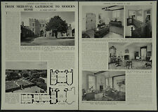 St Osyths Priory Gatehouse Home Of Somerset de Chair 1958 2 Page Photo Article