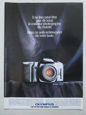 7/1988 PUB APPAREIL PHOTO OLYMPUS OM 101 CAMERA ORIGINAL FRENCH AD