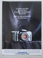 7/1988 PUB APPAREIL PHOTO OLYMPUS OM 101 CAMERA ORIGINAL FRENCH AD