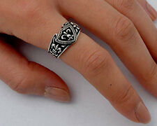 USA Seller Fleur De Lis Ring Sterling Silver 925 Unisex Best Jewelry Size 12