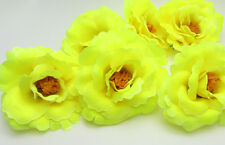 5X Fluorescent yellow Artificial flowers Carnations Wedding Decoration Dia 7.5cm