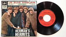 HERMAN'S HERMITS - JE SUIS ANGLAIS - FRENCH 45 EP NM