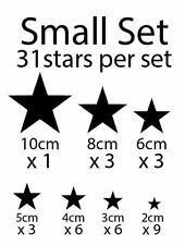 Gold Silver White Solid Stars Removable Wall Stickers Kids * ANY COLOUR*