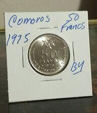 Beautiful Comoros 50 Francs KM#9 Essai coin Nickel 28mm Look & bid buy it now!!!