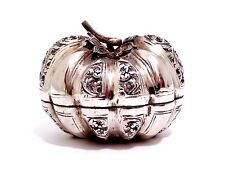 Fine Vintage Antique Asian Silver Betel Pumpkin Melon Nut Snuff Box 70% Sterling