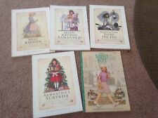 lot of 5 american girl doll books samantha kirsten kit euc