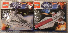 LEGO STAR WARS MINI SETS 30056 & 30053 IMPERIAL DESTROYER & REPUBLIC CRUISER NEW