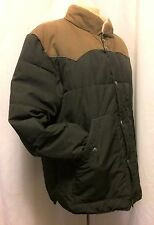 H&M L.O.G.G. Black/Brown Fall Winter Coat Parka Faux Shearling Lined Collar - L