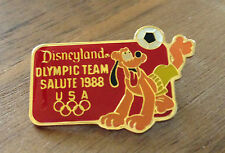 Disneyland USA Olympic Team Salute Pluto Soccer 1988 Seoul Olympic Pin