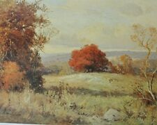 Porfirio Salinas Texas Artist - Autumn in the Hill Country - Numbered 1977 Print