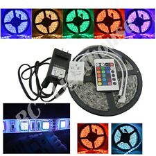 3528 LED Light Strip, 24 Key Remote Control with AC Plug RGB 5 meters
