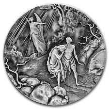 2016 Biblical Series | Adam and Eve | 2 oz .999 Silver Round USA Coin