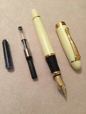 JINHAO X450 IVORY GT FOUNTAIN PEN-MEDIUM NIB-CONVERTER-BLUE CARTRIDGE-UK STOCK