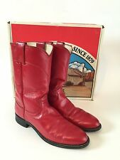 JUSTIN (7.5) CLASSIC Red Western Cowboy Boots Women's Size 7.5 A