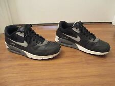 Used Worn Size 12 Nike Air Max 90 Essential Shoes Black Gray White