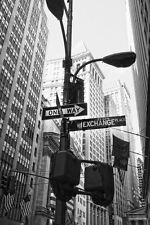 "Abstract New York Street Sign Poster Large Black & White Poster 24"" x 36"""
