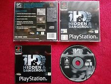 HIDDEN & DANGEROUS ORIGINAL BLACK LABEL SONY PLAYSTATION PS1 PS2 PAL