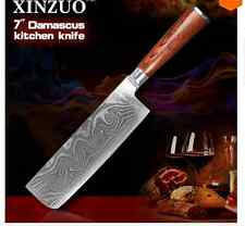 Kitchen Knife Cook Damascus Steel Chef Sharp Quality Professional Knives Cleaver