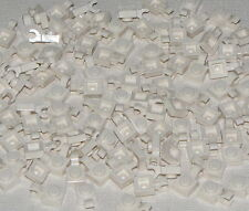Lego Lot of 100 New White Plates Modified 1 x 1 with Clip Horizontal Parts