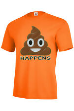 S#@T HAPPENS EMOJI T SHIRT POOP FUNNY BEST SELLER ASSORTED COLROS SIZES S-5XL