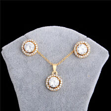 Flower 18k Gold Filled Austrian Crystal Jewelry Sets Necklace/Earrings