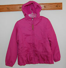 New W/Tags Lands' End Verbena Reversible Poly Filled Hooded Jacket~ Size S, 7-8