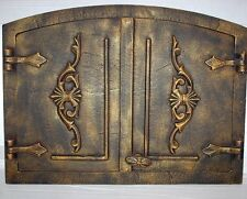 old cast iron fire door / bread oven door / stove smoke / COLORS / 560 x 420mm