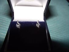 Ernest Jones - 9ct White Gold Earrings - BOXED