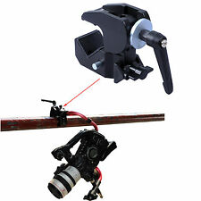 Strong Metal Crab Clamp Clip Pliers fr Tripod Tube Camera Holder Bracket Support