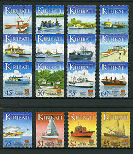 Kiribati 2013 MNH Water Transport Transportation Defin 16v Set Ships Stamp