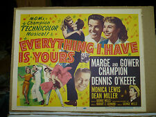 EVERYTHING I HAVE IS YOURS, orig LCS [Marge and Gower Champion, Dennis O'Keefe]